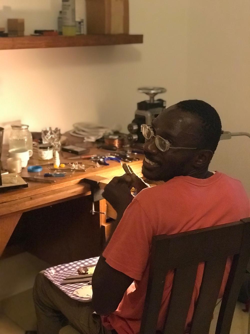 Senegalese Artisan & Äyna Jewelry Silversmith