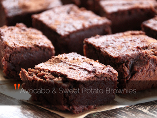 Healthy avocado & sweet potato Brownies