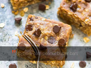 No bake oat-peanut butter bars