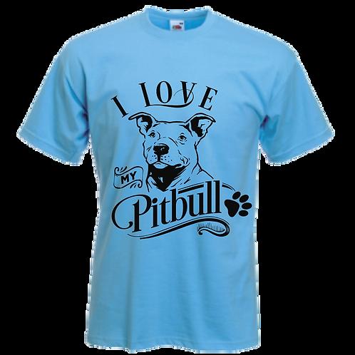 I Love My Pitbull Tee