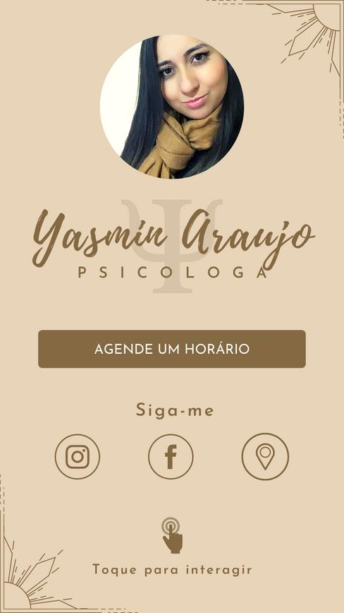 Cartão Digital Psicóloga Yasmin Araujo