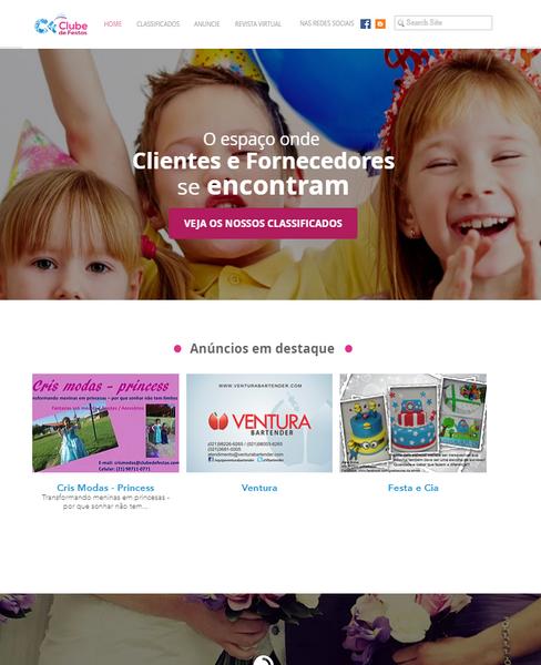 Web Site Clube de Festa