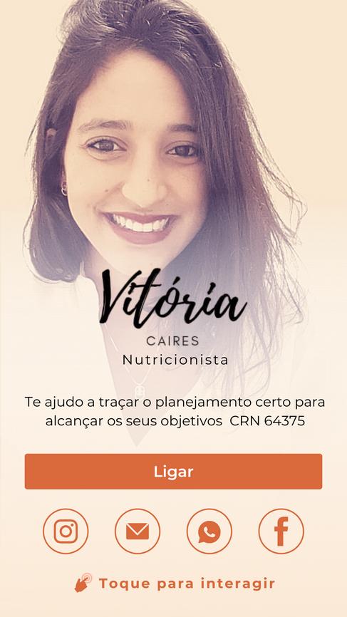 Cartão Digital Nutricionista Vitória Caires