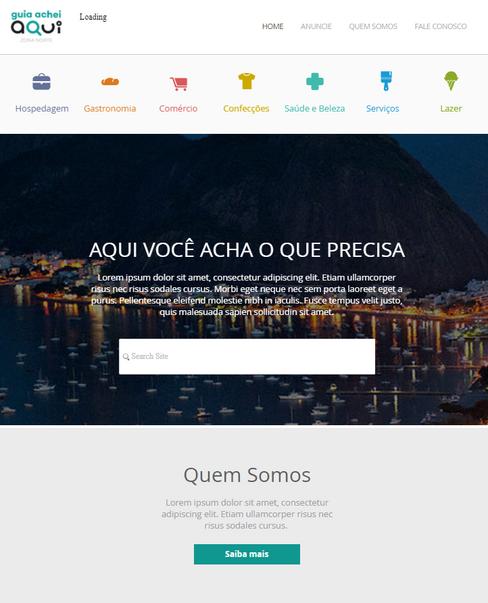 Web Site Ache Aqui Zona Norte