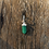 Thumbnail: Brinco de Argola Prateado Quartzo Verde