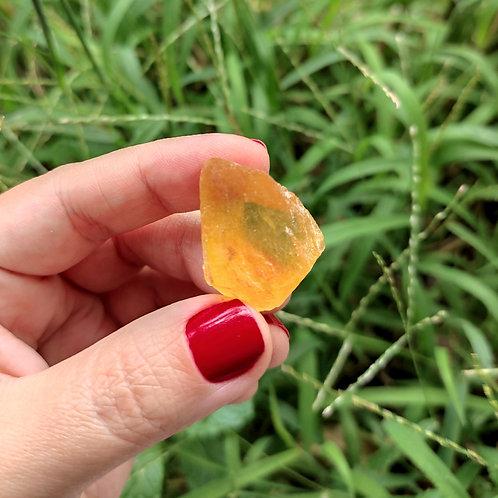 Fluorita Amarela Bruta