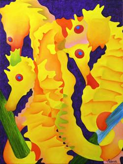 yellow-seahorses