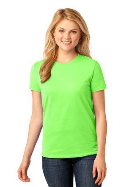 Neon Green Ladies Crew Neck Tee