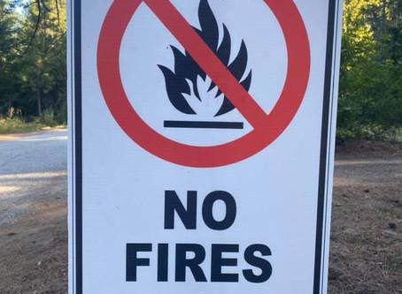 NO Fires until September 14th