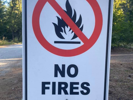 NO Fires until September 14th