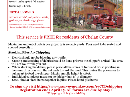 Firewise Communities Chipping Event