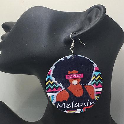 Melanin Poppin Earrings (medium size)