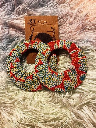 Pretty Fabric Earrings