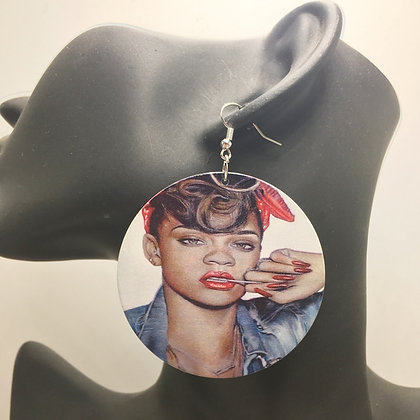 Rihanna Inspired Earrrings (medium size)