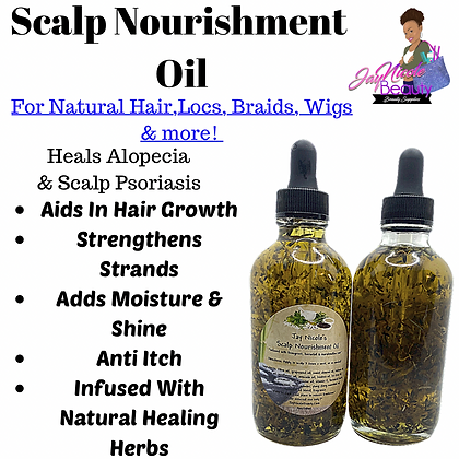 Jay Nicole's Scalp Nourishment Oil infused with horsetail