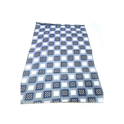 Blue Checkered Headwrap