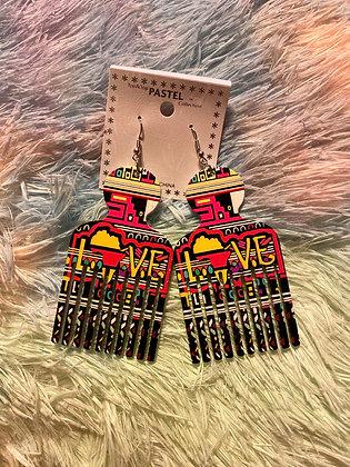 Afro Love Earrings