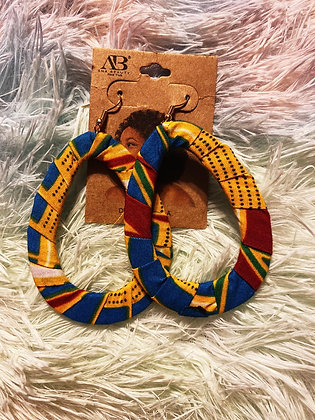 Bold Fabric Earrings