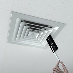 Application of ScentFilm in square vent