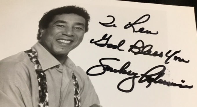 Lunch with Smokey Robinson..What a trill!