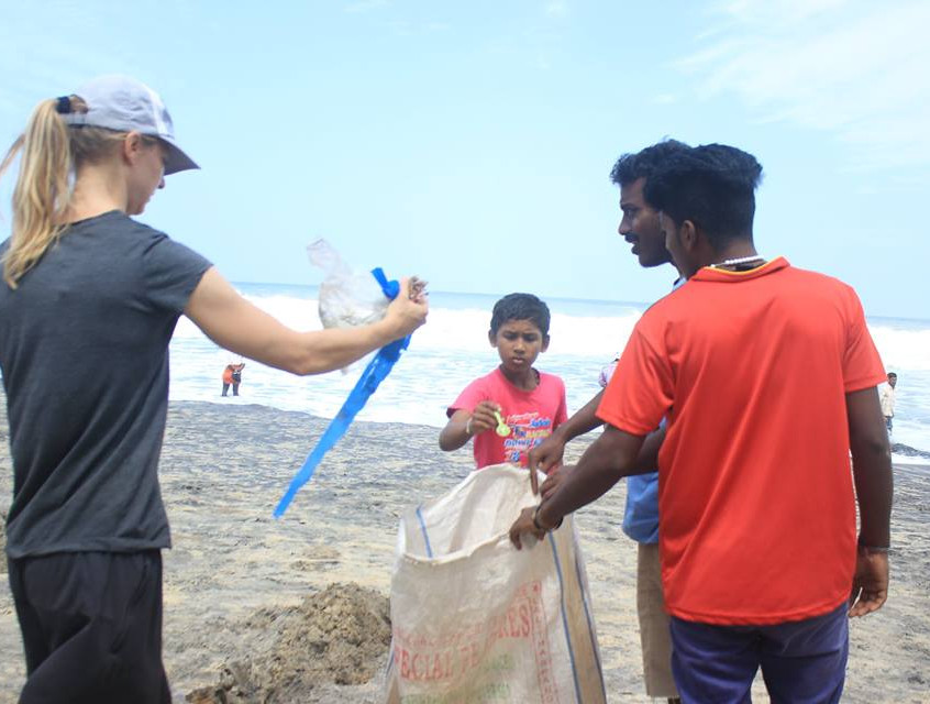 World Ocean Day clean-up with help of Kovalam Skate Club II