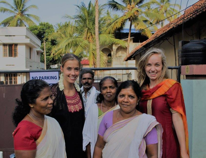 Lieselot and Linde with Pongal Festival