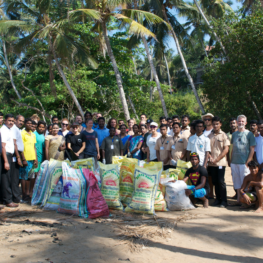 Clean-up 2 with help of Kovalam Surf Club