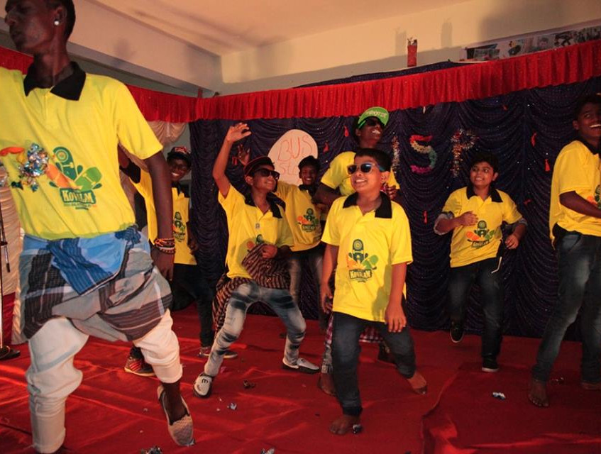 Boys dance performance
