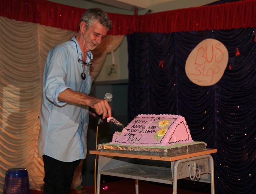 Paul sir cutting the cake