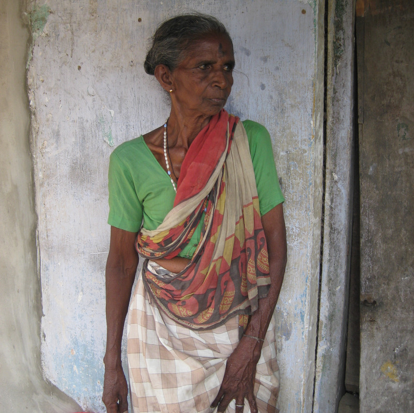 Beneficiary in her home