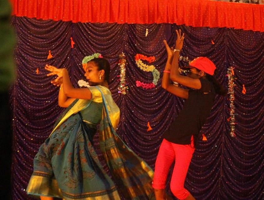 Girls dance performance