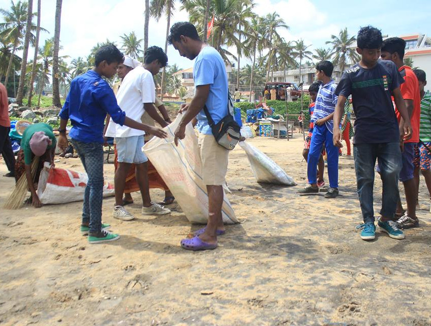 World Ocean Day clean-up with help of Kovalam Skate Club