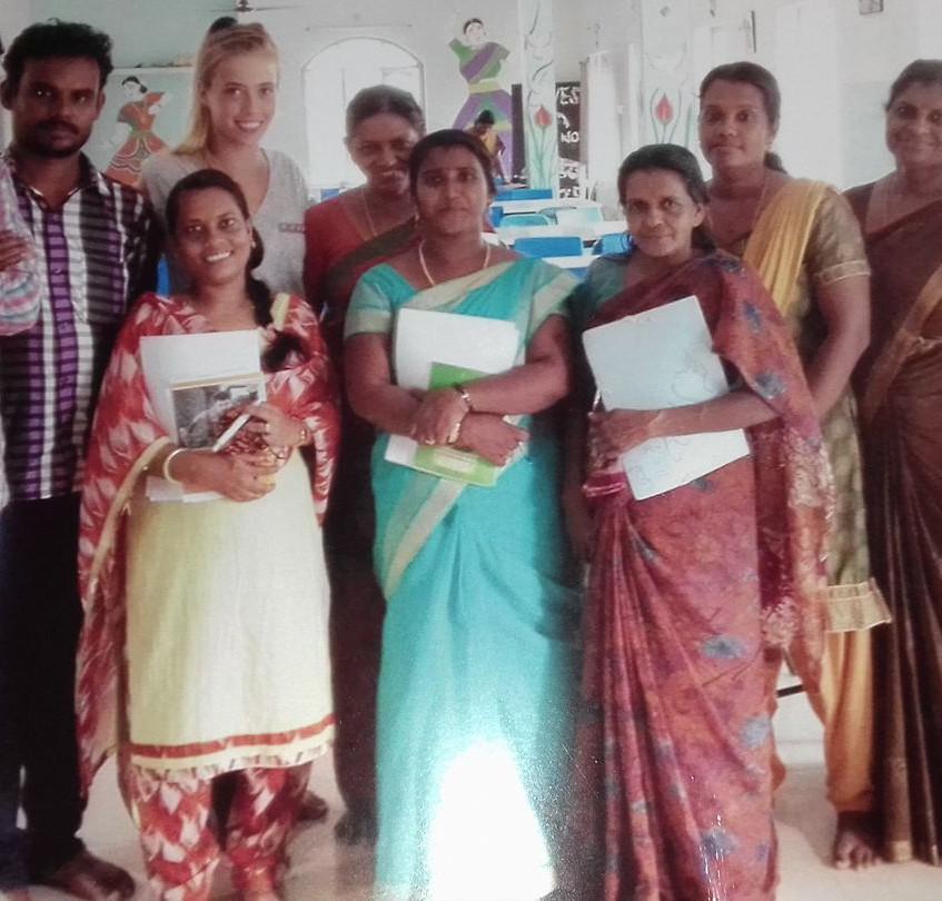 Lieselot with the teachers