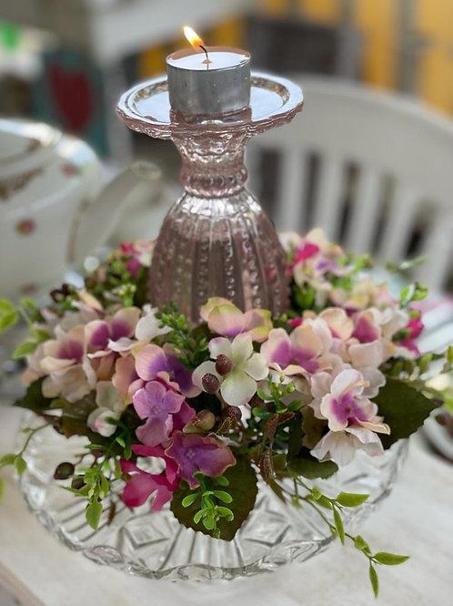 Roze Kandelaar (Glas) 🌸