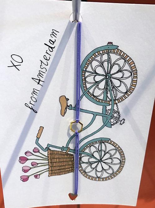 Bracelet with postcard