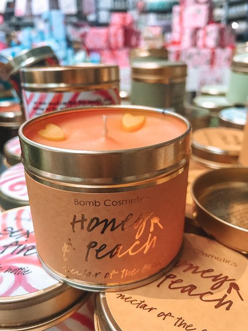 kaarsje - Candle - Bomb Cosmetics Honing & perzik