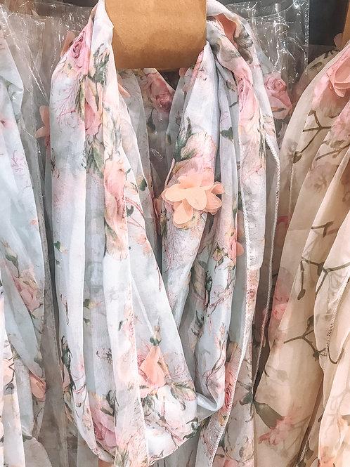 Fleurige sjaal
