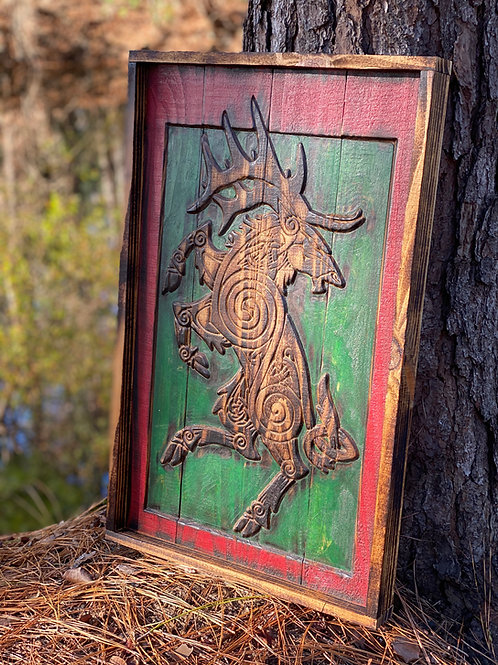 Torched Celtic Stag