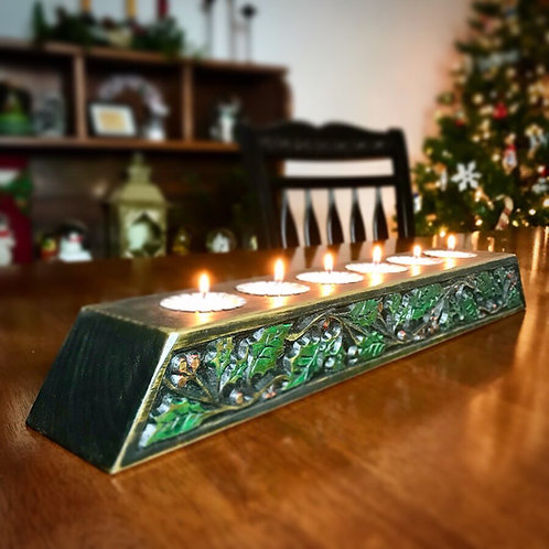 Celtic Holly and Ivy Candle Log