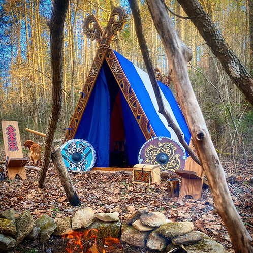 Viking Inspired A-Frame Tents