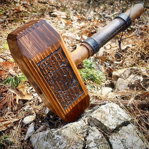 Klan Rúnda - Leather Handle Thor's Hammer