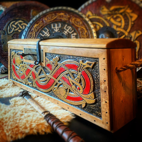 Large Norse/Viking Inspired Chest with Lock