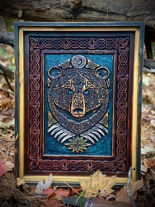 Celtic/Norse Bear Carving