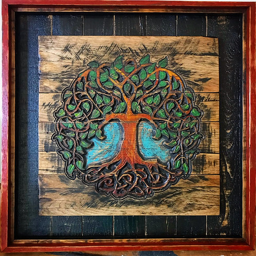 Carved Celtic Tree of Life