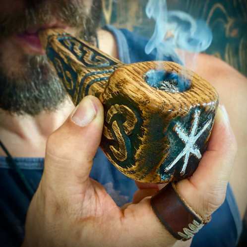 Klan Rúnda - Norse Rune Viking Tobacco Pipe