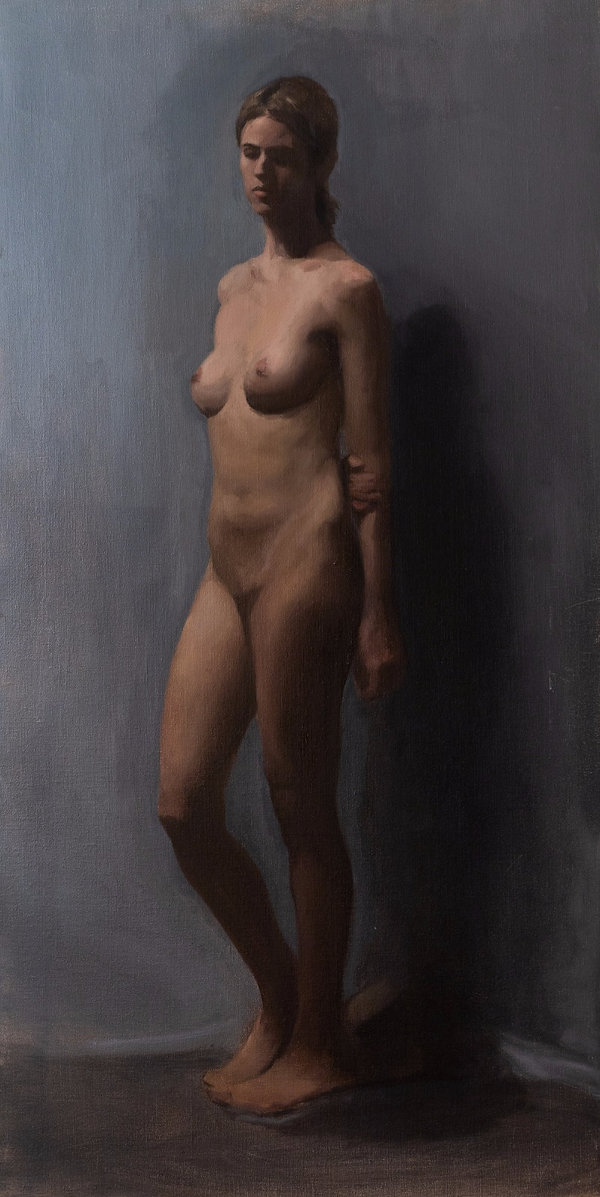 Contemporary figure painting made at barcelona academy of art, design, john bissett creative learn to paint