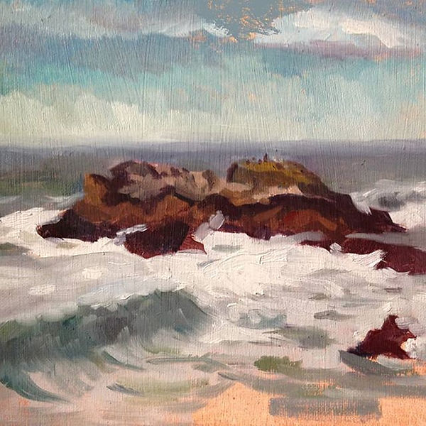 Half moon bay, landscape painting, contemporary plein air in california workshop