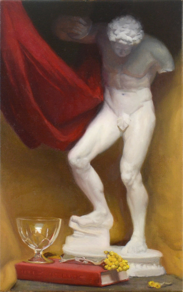 Contemporary still life painting, barcelona academy of art made by john bissett, poetry