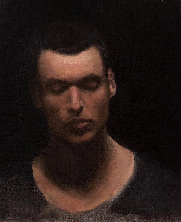 Contemporary portrait painting, academc training barcelona academy of art professinal artist