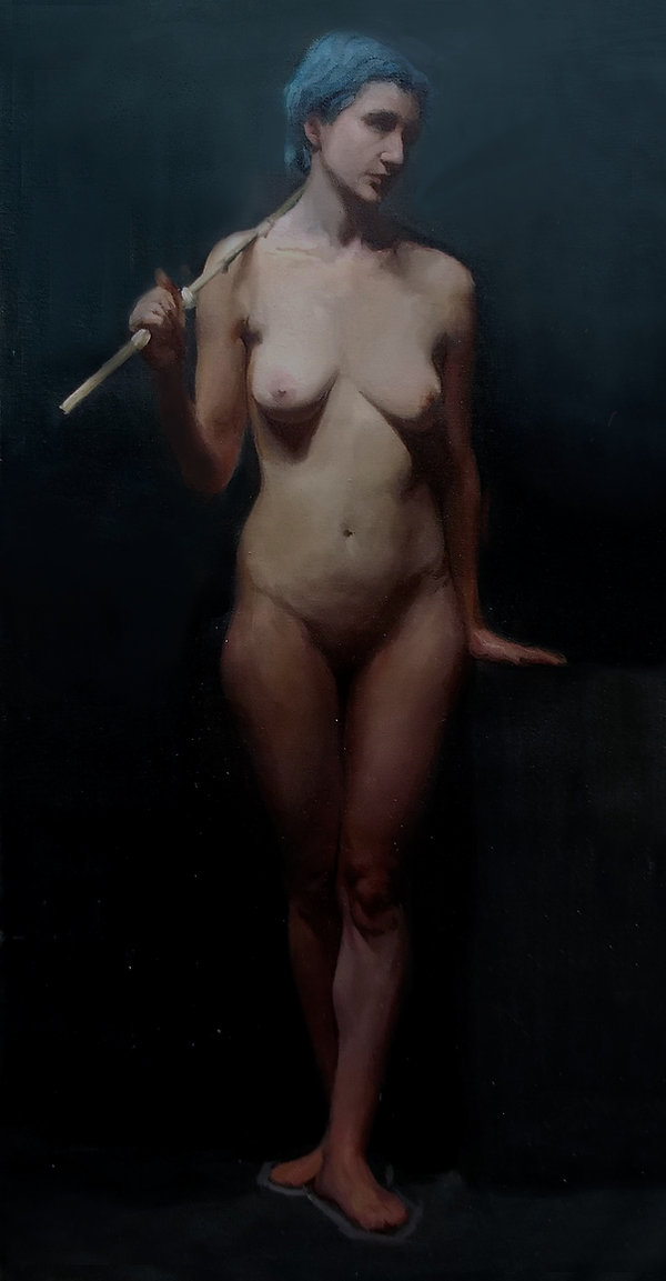 Long pose academic painting from life study art,  how to paint learn to paint.